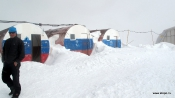 refuge Barrels at 3750 m