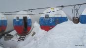 refuge Barrels at 3750 m