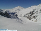 Ski ascent of Elbrus from South side