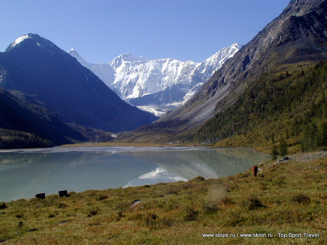 Altay Mt. Belukha and Ak-kem lake