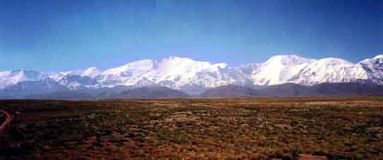 view to peak Lenin from Alay valley